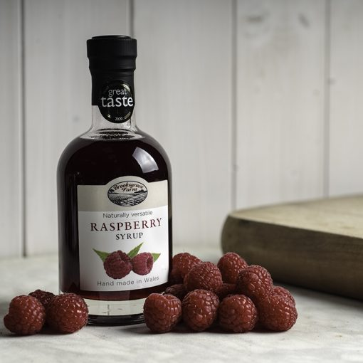 Brooksgrove Farm Raspberry Syrup with fruit