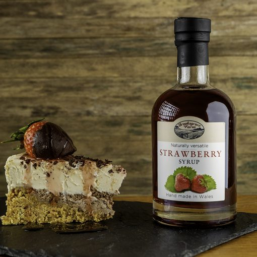 Brooksgrove Farm Strawberry Syrup on cheesecake