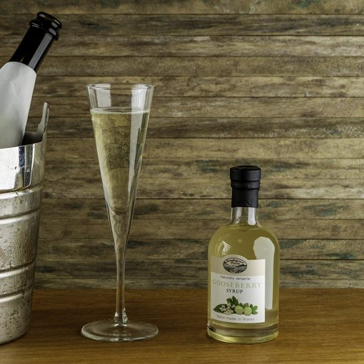 Brooksgrove Farm Gooseberry Syrup in prosecco