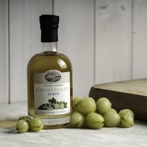 Brooksgrove Farm Gooseberry Syrup with fruit